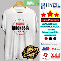 Kaos Distro Pria Indonesia Lengan Pendek Cotton Combed 30s Premium - Putih, M