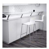 Kursi Bar Modern/Bangku Bar Besi Tinggi Desain Terbaru 77cm_Putih