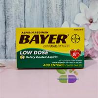 Bayer Aspirin Low Dose 81 mg 400 Tablets