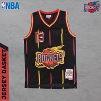 JERSEY BASKET NBA BAJU BASKET HOUSTON ROCKETS JAMES HARDEN BLACKRINGS - S