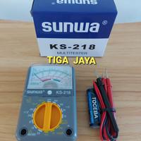 Multi Tester Mini Avometer Analog Sunwa Biru KS 218 bukan Sunma Sanwa