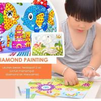 MAINAN EDUKASI CRYSTAL PAINTING ART DIAMOND PAINT ART CRAFT PER LEMBAR