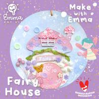 Make With Emma Art Kit: Rainbow Fairy House Craft BONUS white marker