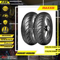 PAKET BAN MOTOR MATIC MAXXIS M922F M922R 100/90 110/90 RING 12 TUBLES