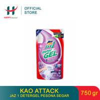 (PROMO MINGGUAN) KAO Attack Jaz 1 Detergel Pesona Segar 750 GR