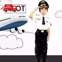 Seragam pilot anak/baju pilot anak - S