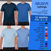 Kaos Polos Pria Wanita Gildan Softstyle 63000 Navy - Biru - Biru Muda