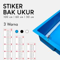 Stiker Bak Ukur Ikan Koi 100   60   50 cm