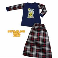 Baju Stelan Rok Anak / Setelan Gamis Anak Perempuan umur 5 - 10 tahun