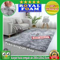 karpet bulu lembut /tikar uk 200x120x2cm - Merah