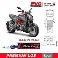 Busi BRISK Premium LGS AAOR10LGS untuk motor Ducati Diavel AMG