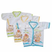 Baju Bayi Lengan Pendek Model Kancing (0-6m)