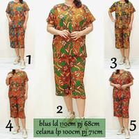 Babydoll Batik Celana Pendek Baju Tidur Set Piyama Wanita DAUN2