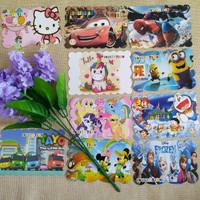 kartu undangan ulang tahun anak spiderman unicorn princess tayo minion