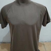 Kaos Polos Coklat Leher Tinggi