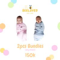 Hello Myu Bundling - Bedong Bayi Instan instant Lucu Karakter Lembut