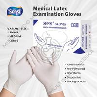 SENSI GLOVES LATEX isi 100/Medical Examination/Sarung Tangan Latex 100 - S