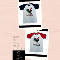 Baju Kaos Khas Makassar Motif dan Gambar Ayam Jantan