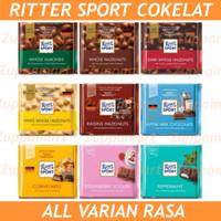 RITTER SPORT Chocolate All Varian Rasa - Cokelat Premium Eropa