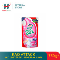 (PROMO MINGGUAN) KAO Attack Jaz 1 Detergel Semerbak Cinta 750 GR