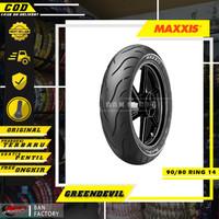 BAN MOTOR MATIC MAXXIS GREENDEVIL MA-G1 90/80 RING 14 BAN TUBLES