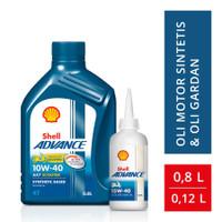 Oli Shell Advance AX7 Matic 0.8L 10W-40 dan Oli Gear Shell