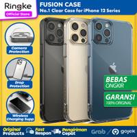 Original Ringke Fusion Case iPhone 12 Pro Max 12 Pro 12 Mini Casing - 12 Pro Max, Clear