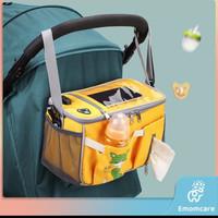 Stroller Organizer tas penyimpanan bayi aksesoris stroller bayi lucu