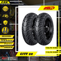 PAKET BAN MOTOR MATIC NEW SCOOPY FDR CITY GO 100/90 110/90 ring 12