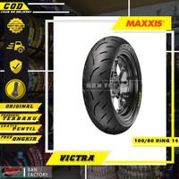 BAN MOTOR MATIC PCX MAXXIS VICTRA 100/80 RING 14 BAN TUBLES MATIC