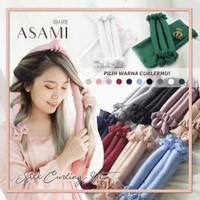 ASAMI Silk Heatless Curling Set Ribbon Wrap (pilih warna) semua ready - Random/ Acak