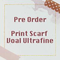 [PRE ORDER] PRINT SCARF VOAL ULTRAFINE - IVY ATELIER