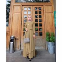 Baju Gamis Syari Dress Pesta Muslimah Maxi Dress Muslim Miza