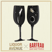 BARFRAU Wine Glass Shape Accessories Gift Set Corkscrew Opener Pourer