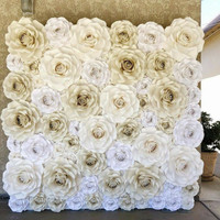 Paper Roses Flower Backdrop Exclusive
