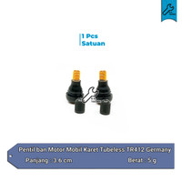 Pentil ban motor mobil karet tubeless tubles TR412 TR 412 Germany