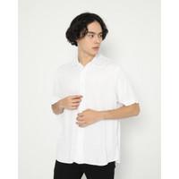 Kemeja Pria Erigo Short Shirt Lavrenti Rayon White - S