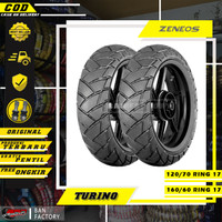 PAKET BAN MOTOR MOGE ZENEOS ZN33 TURINO 120/70 160/60 RING 17 TUBLES