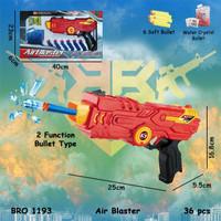 Pistolan Peluru Busa Soft Bullet Air Jelly Hydrogel Tembak Tembakan - Merah