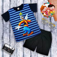 Kids Fashion Set Pakaian anak cowok Baju Setelan anak laki murah
