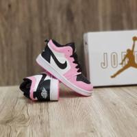 sepatu anak perempuan Nike Air Jordan Hi Pink Black Grade Original