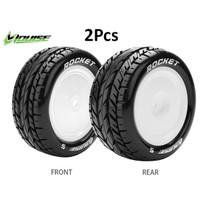 Louise E-Rocket 1/10 TIRE 12MM Buggy 4WD Ban Rc T3186SWKF T3188SWKR - Front Tire