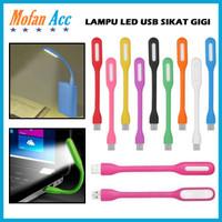 LAMPU LED USB FLEXIBLE / STICK LAMP / SIKAT GIGI LIGHT / LAMPU BACA