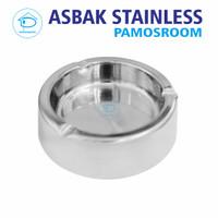 Pamosroom Asbak Bulat 11cm Stainless Steel Tebal 2mm Diameter 11Cm