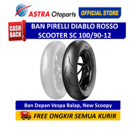 Pirelli Diablo Rosso Scooter SC 100/90-12 - Ban Depan (2903500)