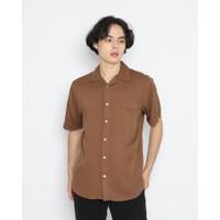 Kemeja Pria Erigo Short Shirt Delwyn Rayon Dark Brown - S