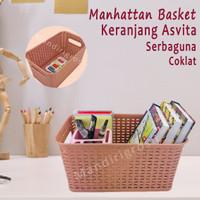 Keranjang Asvita 282*Keranjang Manhattan Basket*Serbaguna*Coklat