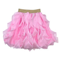 Wavy Tutu Rok Ballet Dance cantik import elegan - Pink