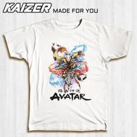 KAIZER RH-1501 Kaos Aang Avatar The Last Airbender Painting Style - Putih, S