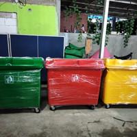 tempat sampah bak container vol 660 liter